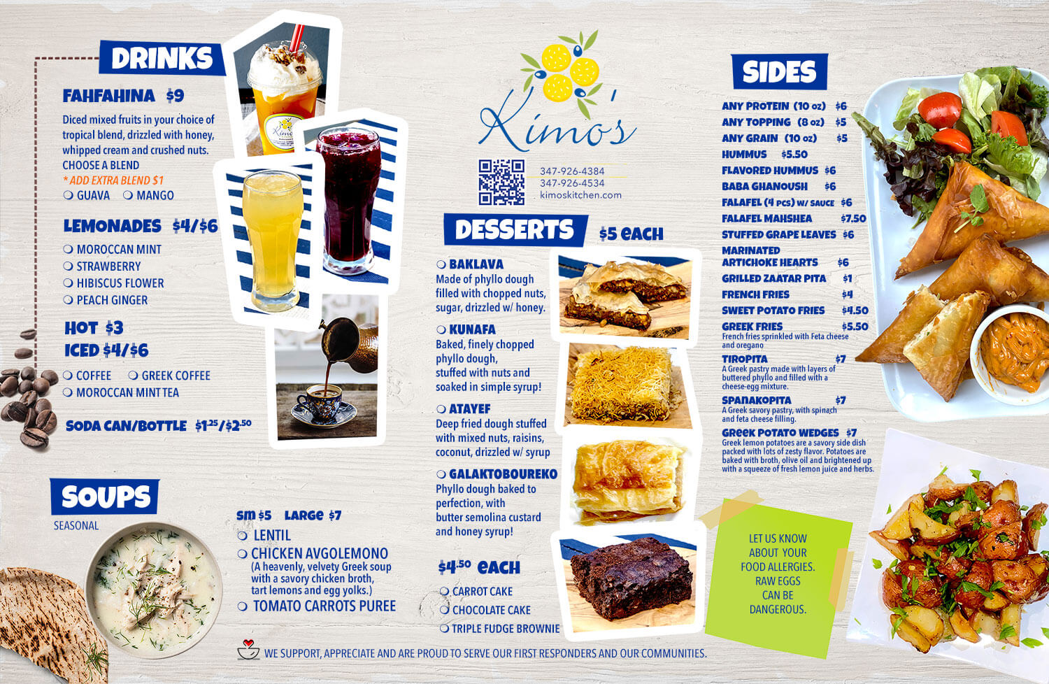 Kimo's Drinks and Desserts
